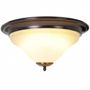 Quality Home Items 617226 Sanibel Flush Mount and Vanity Lighting, 1 Light Flush Mount, Oil Rubbed Bronze