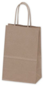 Bags & Bows by Deluxe 14-RK Recycled Kraft Paper Shoppers Mini Cub - Case of 250