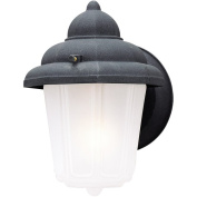 Westinghouse Lighting 6688100 Black One-Light Exterior Wall Lantern With Frosted