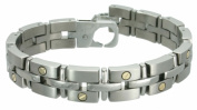 Rising Time TT-2119-GSC11 Titanium Bracelet With Gold Screws