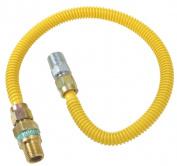 Plumb Shop Brasscraft .127cm . MIP x .127cm . MIP x 61cm . Gas Connector CSSD44E-24P