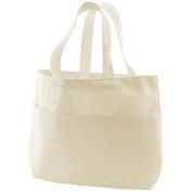 Canvas Corp 448605 Canvas Small Pocket Tote Bag 23cm . x 7cm . x 25cm . -Natural