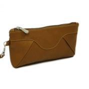 Piel Leather 2937 Rainbow Wristlet - Saddle