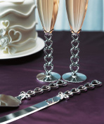 Weddingstar 8438 Silver Plated Stacked Hearts Cake Serving Set