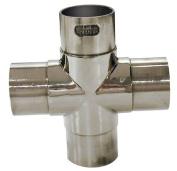 Hardware Distributors L40 736 2 5.1cm . Flush Cross - Polished Stainless Steel