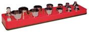 Mechanics Time Savers MTS714 .38 Shallow Socket Holder- Red