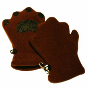 BearHands IF1000BRN Infant Fleece Mittens - Brown