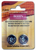 Magnetic Sew On Button 1.9cm 2/Pkg-Nickel Plated