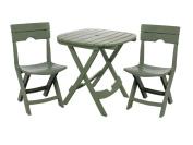 Adams Manufacturing 8590-01-3731 Quik-Fold® Cafe Bistro Set, Sage