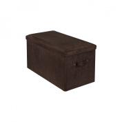 Yu Shan CO USA Ltd 112-73 Seat Pad Folding Storage Bench. Micro suede cover Brown