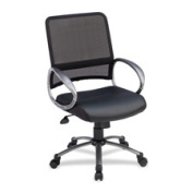 Lorell LLR69518 Mesh Task Chair- 25in.x25in.x42in.- Black