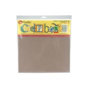Grafix Medium Weight Natural Chipboard Sheets, 30cm x 30cm