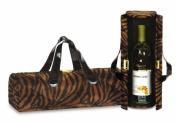 Picnic Plus PSM-112BT Picnic Plus Carlotta Clutch Wine Bottle Tote - Brown Tiger