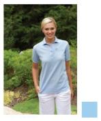 24-7 Lifestyle TS00351LB00002 Ladies Performance Blend Polo 351 LIGHT BLUE S