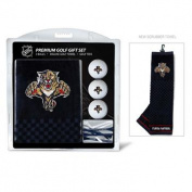Team Golf 14120 Florida Panthers Embroidered Towel Golf Ball 12 Golf Tee Gift Set