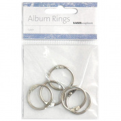 "Album Rings Split Metal Small 1"" (2.5cm) 5/Pkg-Silver"