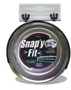Midwest Stainless Steel Snap'y Fit Water and Feed Bowl, 1.9l Multi-Coloured