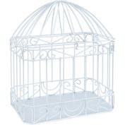 Wilton Bird Cage Style Gift Card Holder, White