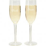 Wilton Bride and Groom Wedding Toasting Glasses