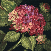 Hydrangea Bloom Needlepoint Kit-36cm x 36cm Stitched In Wool