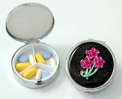Budd Leather 181798-42 Secret Garden Round Pill Box