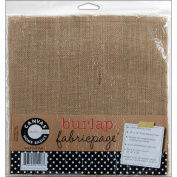 Canvas Corp 467000 Fabric Page 12 in. x 12 in. 1-Pkg-Burlap
