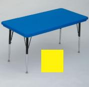 """Correll AR3072-REC-28 Rectangular-Shaped Resin Activity Table, 72Wx30""""D, Yellow"""