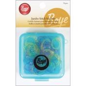 Boye 7582 Jumbo Stitch Markers-For Sizes 0-15 35-Pkg