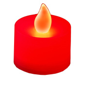 JH Specialties 80312 LED Battery Operated Tea Lights- Red 12 Ct