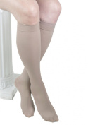 GABRIALLA Microfiber Unisex Knee Highs (w/Closed Toe) - Firm Compression 25-35 mmHg - Large