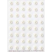 Martha Stewart 3D Stickers, White Pearls