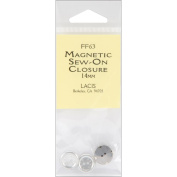 Lacis 93617 Magnetic Sew-On Closure 14mm-One Set