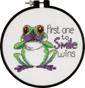 Dimensions 406273 Learn-A-Craft First One To Smile Counted Cross Stitch Kit-6 in. Round