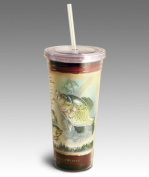 Ideaman TMBL-144 Crappie 710ml Double-Wall Insulated Acrylic Tumbler