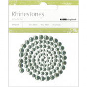 Kaisercraft RS406 Self-Adhesive Rhinestones 100-Pkg-Blue Grey -Light Green