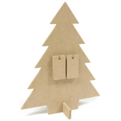 Kaisercraft SB136 Beyond The Page MDF Days Til Christmas Countdown Tree-12.125 in. x 9.75 in. x 3.875 in.