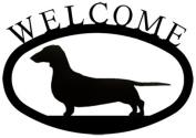 Village Wrought Iron WEL-241-S Welcome Sign-Plaque - Dachsund-Dog