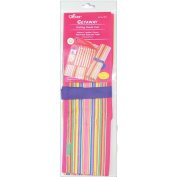 Clover 74021 Getaway Single Point Knitting Needle Case-For Needles To 14 in.