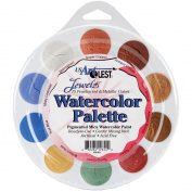 Watercolour Palette - 10 Colours-Jewelz-Pearlescent & Metallic