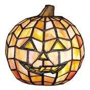 Meyda Tiffany Jack O'Lantern Tiffany Glass Accent Lamp