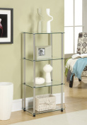 Convenience Concepts 157001 Go-Accsense 4-Tier Glass Tower, Clear Glass