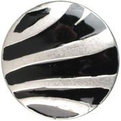 Cousin Snap in Style Metal Accent, Zebra