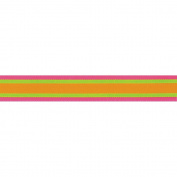 Offray 294364 Cotton Candy Ribbon .220cm . 3 Yards-Citrus