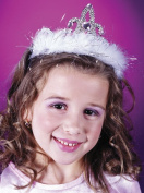 Costumes For All Occasions Fw8128Wh Tiara Marabou White Heart