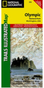 National Geographic TI00000216 Map Of Olympic National Park - Washington