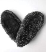 Fuzzy Footies Women's Black Slip Resistant Lounge Slippers
