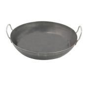 World Cuisine A4171745 Black Steel Paella Pan - 45.1cm