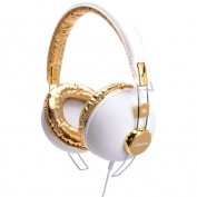 IDANCE HIPSTER703 Cup Headphones with inline Mic - Gold-White