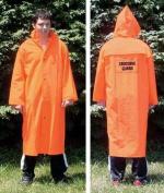 Olympia Sports SS170M Orange Fluorescent Raincoat with Emblem-Medium