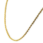 AAB Style NSSX-214 Stainless Steel Gold PVD Necklace with Braid-Like Design - 24 in.